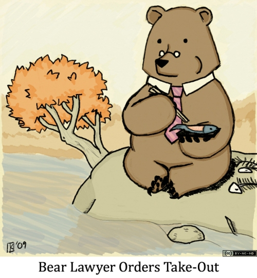 Bear Lawyer Orders Take-Out