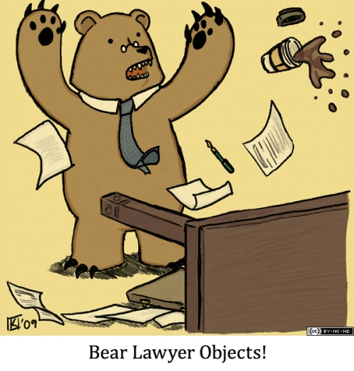 Bear Lawyer Objects!