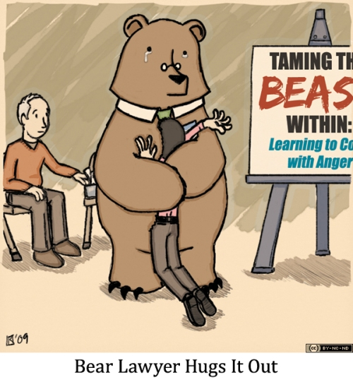 Bear Lawyer Hugs It Out