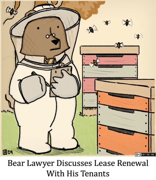 Bear Lawyer Discusses Lease Renewal With His Tenants
