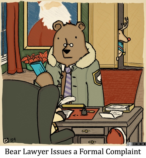 Bear Lawyer Issues a Formal Complaint