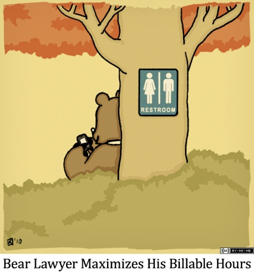 Bear Lawyer Maximizes His Billable Hours
