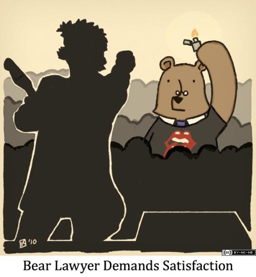 Bear Lawyer Demands Satisfaction