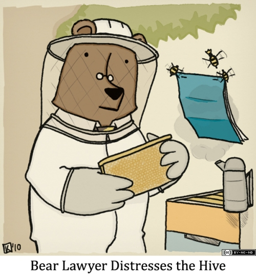 Bear Lawyer Distresses the Hive