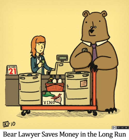 Bear Lawyer Saves Money in the Long Run