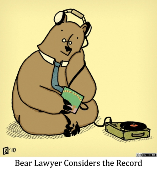Bear Lawyer Considers the Record