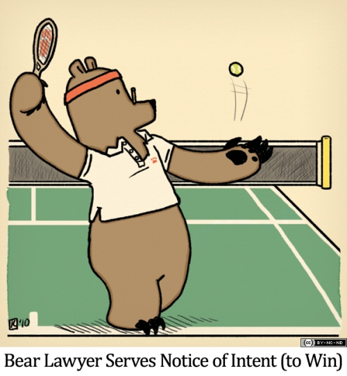 Bear Lawyer Serves Notice of Intent (to Win)