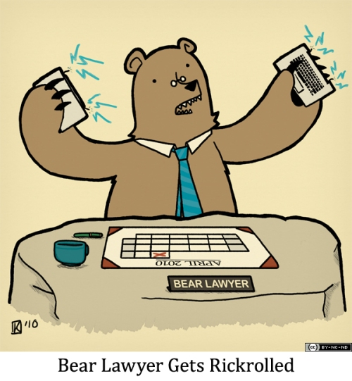 Bear Lawyer Gets Rickrolled