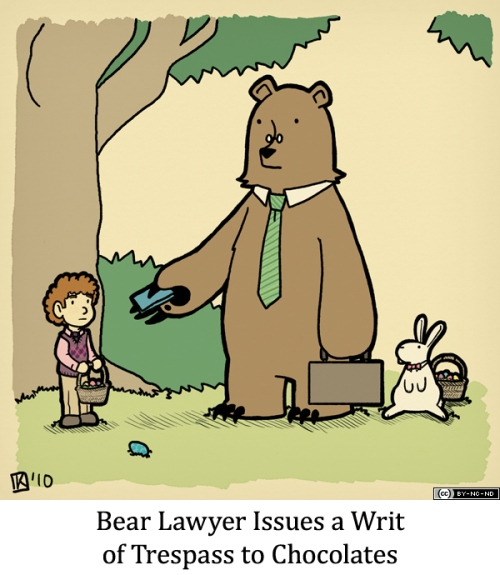 Bear Lawyer Issues a Writ of Trespass to Chocolates