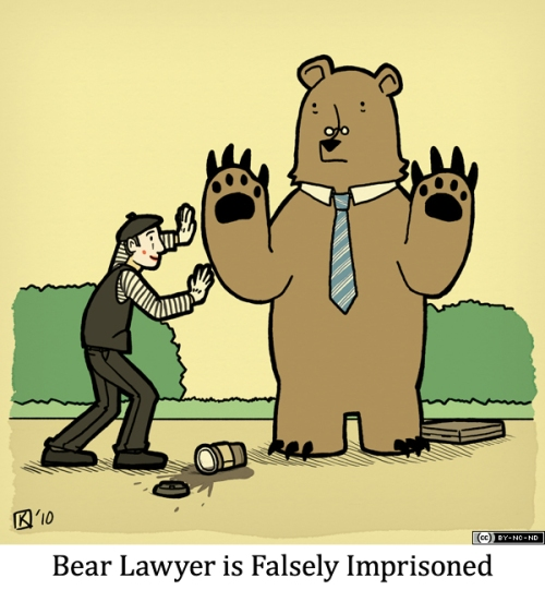Bear Lawyer is Falsely Imprisoned