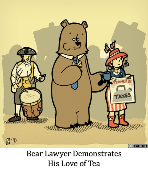 Bear Lawyer Demonstrates His Love of Tea