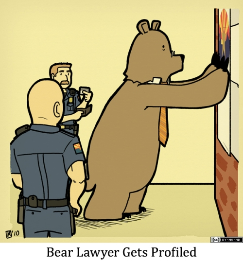 Bear Lawyer Gets Profiled