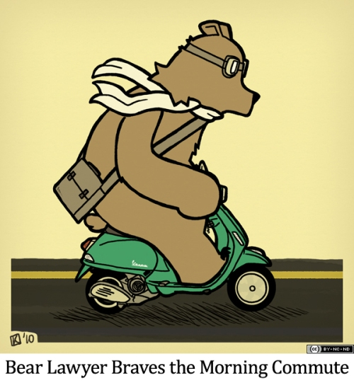 Bear Lawyer Braves the Morning Commute