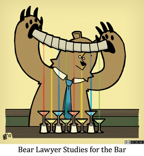 Bear Lawyer Studies for the Bar