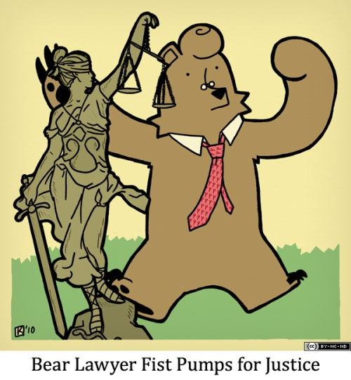 Bear Lawyer Fist Pumps for Justice