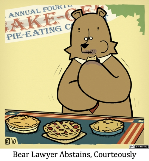 Bear Lawyer Abstains, Courteously