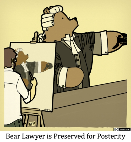 Bear Lawyer is Preserved for Posterity