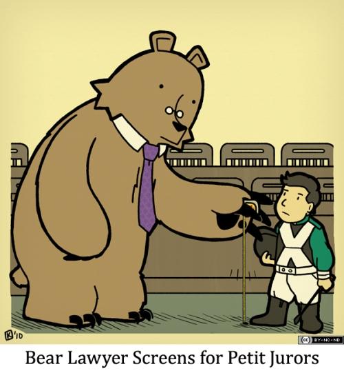 Bear Lawyer Screens for Petit Jurors