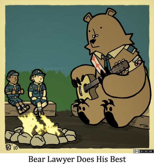 Bear Lawyer Does His Best