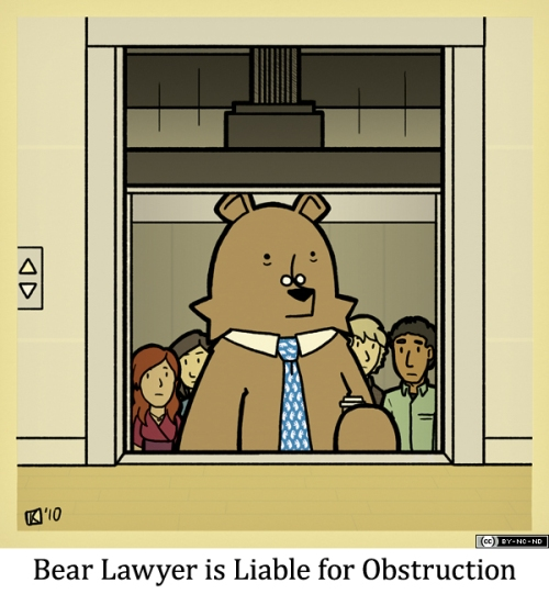 Bear Lawyer is Liable for Obstruction
