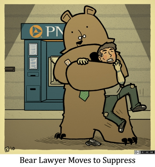 Bear Lawyer Moves to Suppress