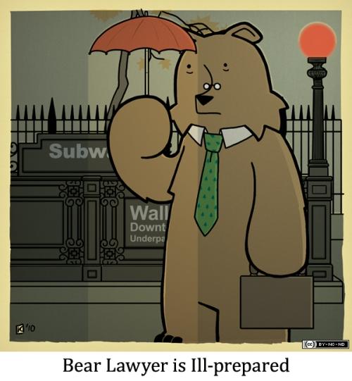 Bear Lawyer is Ill-prepared