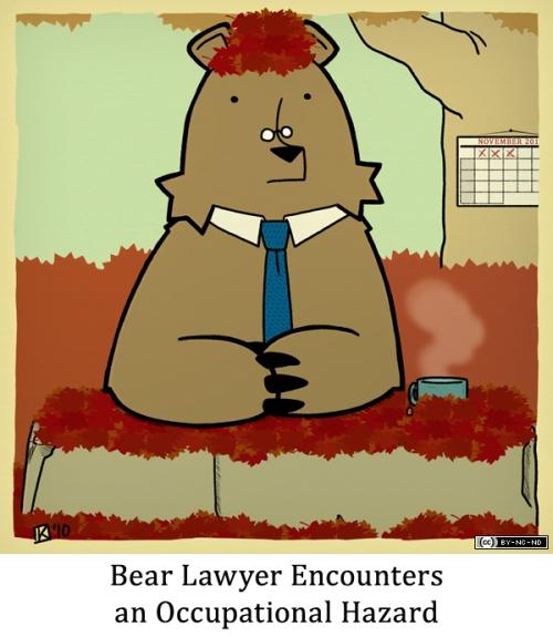 Bear Lawyer Encounters an Occupational Hazard