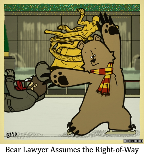 Bear Lawyer Assumes the Right-of-Way