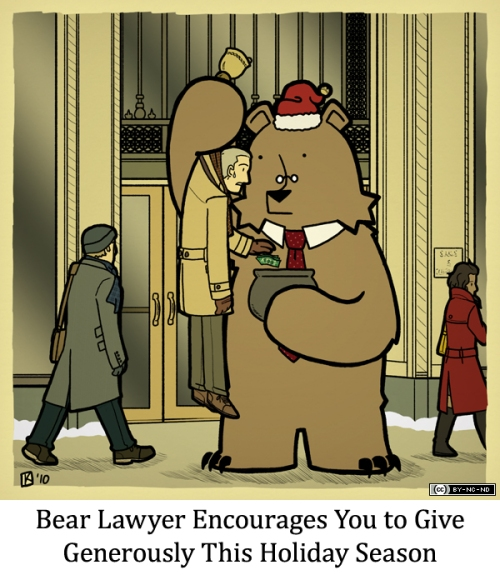 Bear Lawyer Encourages You to Give Generously This Holiday Season