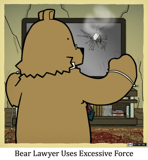 Bear Lawyer Uses Excessive Force