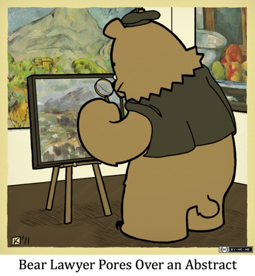 Bear Lawyer Pores Over an Abstract