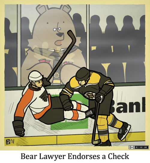 Bear Lawyer Endorses a Check