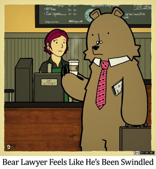 Bear Lawyer Feels Like He's Been Swindled
