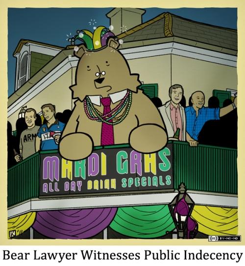 Bear Lawyer Witnesses Public Indecency