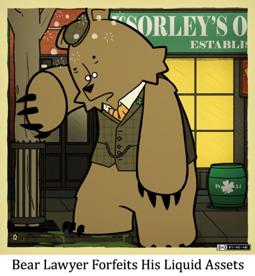 Bear Lawyer Forfeits His Liquid Assets