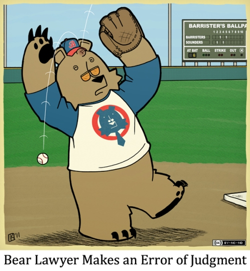 Bear Lawyer Makes an Error in Judgment