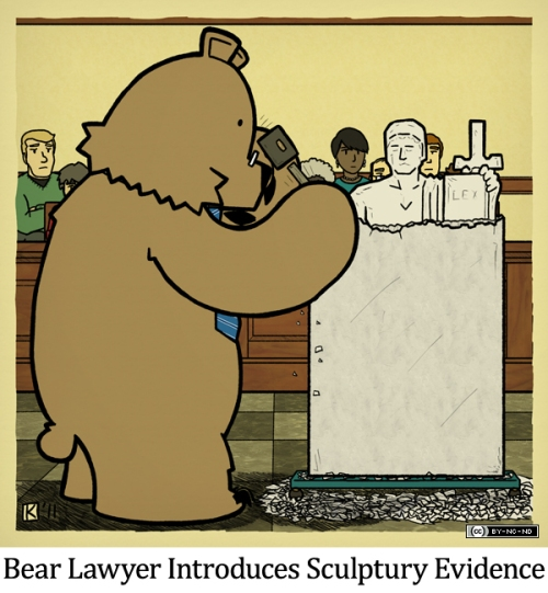 Bear Lawyer Introduces Sculptury Evidence