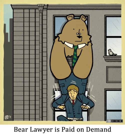 Bear Lawyer is Paid on Demand