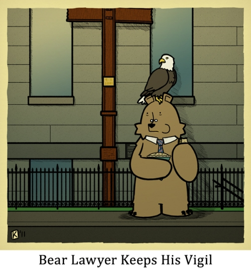 Bear Lawyer Keeps His Vigil