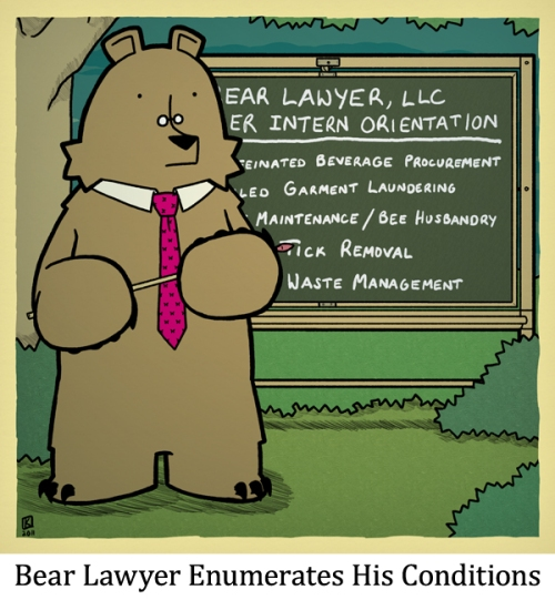 Bear Lawyer Enumerates His Conditions