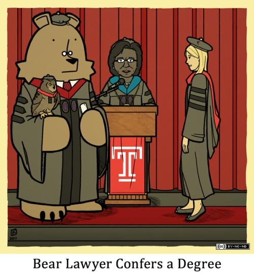 Bear Lawyer Confers a Degree