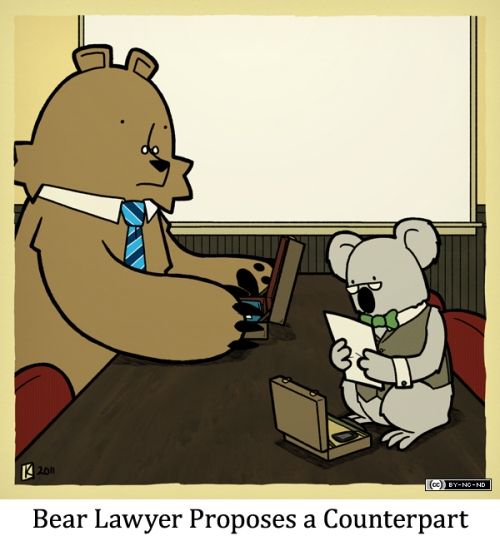 Bear Lawyer Proposes a Counterpart