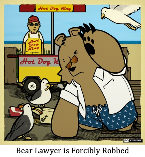 Bear Lawyer is Forcibly Robbed
