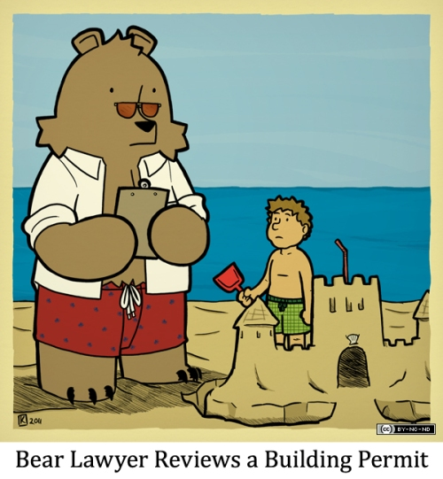 Bear Lawyer Reviews a Building Permit