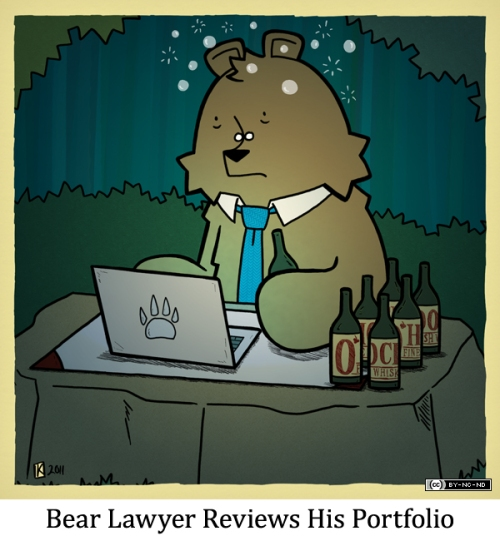 Bear Lawyer Reviews His Portfolio