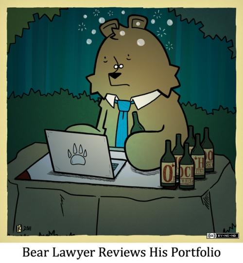 Bear Lawyer Reviews His Portfolio