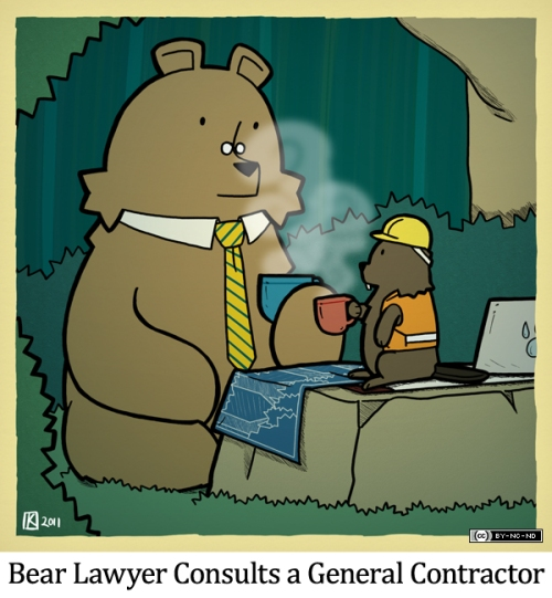 Bear Lawyer Consults a General Contractor