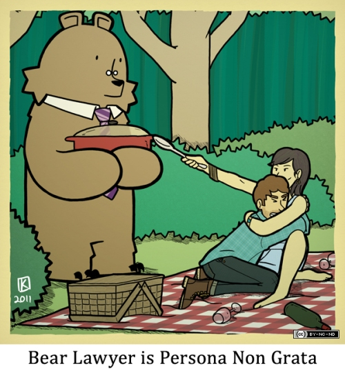 Bear Lawyer is Persona Non Grata