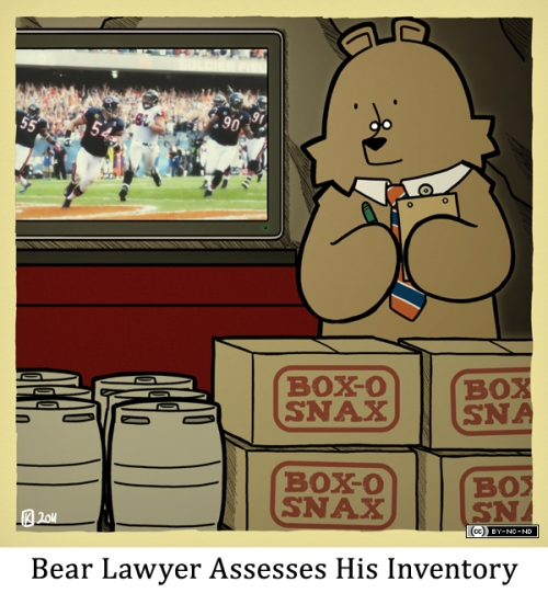 Bear Lawyer Assesses His Inventory