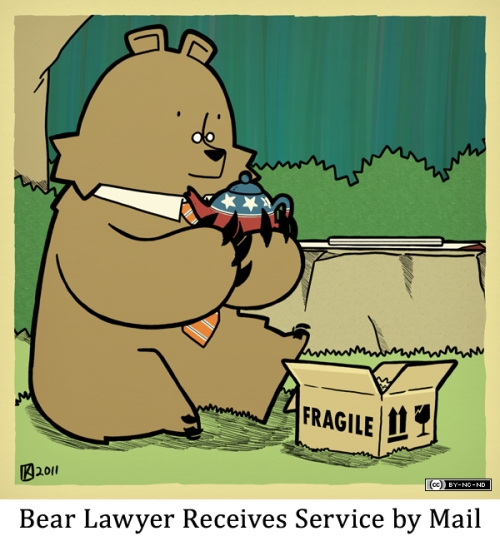 Bear Lawyer Receives Service by Mail